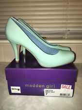 Madden Girl GETTA Women's Mint Patent Leather Pumps - Size US 7