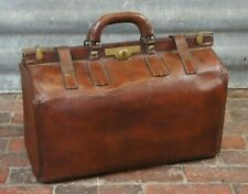 Stunning English Antique Gladstone Bag Travel Bag
