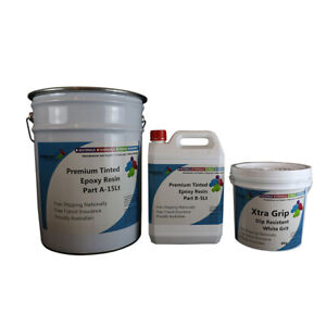SlipRes Tinted EPOXY, Many Colors, 2Pk Epoxy Easy DIY Kit, Indoor & Outdoor Use