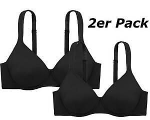 2er Pack DORINA T-Shirt Bügel BH Lindsay D1032, schwarz oder weiß, haut NEU