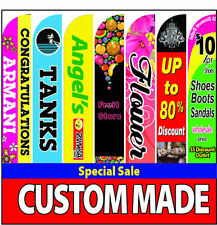 15foot Full Color Custom Swooper Advertising Flag Feather Banner Pole Spike