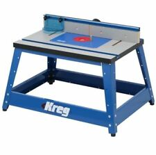 Router Table, Precision Bench MDF Top Router Table Tool W/ Rugged Steel Stand