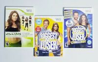 Nintendo Wii Lot of 3 Games Jillian Michaels Fitness & The Biggest Loser 1 & 2