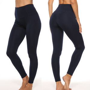 Womens Yoga Pants Seamless Gym Leggings Running Sports Fitness Workout Trousers