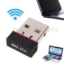 Wireless WiFi USB Adapter Nano LAN Dongle Card For Win7/8/10/MAC 150Mbps 802.11n