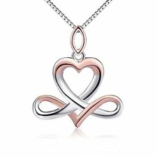 Sterling Silver Irish Celtic Knot Infinity Heart Pendant Necklace Jewelry Gift