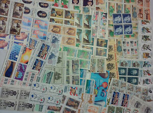 Usable 100 Assorted Mixed Multiples & Singles of 20¢ US Postage Stamps FV $20.00