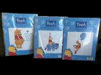 Leisure Arts Pooh Eore Tigger Piglet 34002 34003 34020 Cross Stitch Kits Lot 3pc