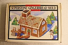Superstone Gingerbread House Mold by Sassafras Made in the USA
