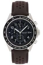 Gigandet Racetrack Herrenuhr Chronograph Datum Lederarmband Braun  G24-010