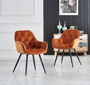 1,2,4, 6er Sessel Esszimmerstühle  Wohnzimmerstuhl Mit Rückenlehne Samt Grau Neu