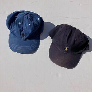 2X Vintage Ralph Lauren Polo Caps Blue One Size Baseball
