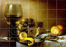 28 x 20 Art Pieter Claesz Tumbled Marble Mural Tiles Home Decor Tile #279