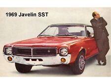 1969 Javelin SST Auto Refrigerator / Tool Box Magnet Gift Card Insert