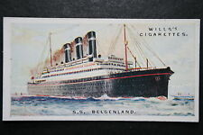 SS Belgenland       Red Star Line   Original 1920's Vintage Card    VGC