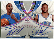 2005-06 SP Game Used DWIGHT HOWARD Jameer Nelson Dual On-Card Auto #/25