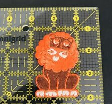 LION Patch Orange/Brown Patch Sew On Patch New