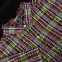 Men Polo Ralph Lauren RL Western Metal Snap Button Down Shirt Size XL Casual
