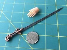 "Fantasy ""Blade Of Barsoom"" Sword 1:6 Scale Hand Crafted Miniature Steel By Auret"