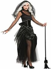Shadow Ghost Lady Corpse Zombie Bride Halloween Fancy Dress Costume Size 10-14