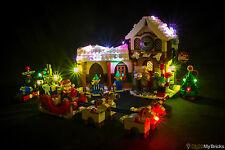 LIGHT MY BRICKS - LED Light kit for Lego Santas Workshop set 10245 Christmas