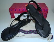 NIB Authentic TORY BURCH Minnie Travel Sandal in Black Sz 8.5 $198 ~ SOLD OUT!