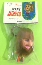 Vintage 80's Peace Love Woodstock Mini Hippie Keyring Keychain Figure Sealed Bag