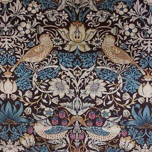 William Morris Strawberry Thief TEAL Cotton Fabric, per FQ 110cm wide