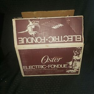 NOS Vintage Oster Electric Fondue Pot Retro Red