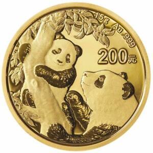 China - 200 Yuan 2021 - Panda - Anlagemünze - 15 gr Gold ST