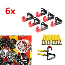 """6 Sets 13""""-22"""" Car Wheel Rim Wall Hanger Display Hook Slat Metal 35kg w/ Screws"""