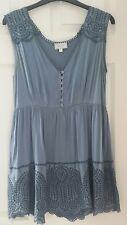 Women's Ghost silk Embroidery Blouse Boho Style Size 12 BNWOT