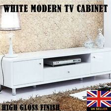 Modern High Gloss Lacquer TV Cabinet Unit Stand Lowboard Entertainment White