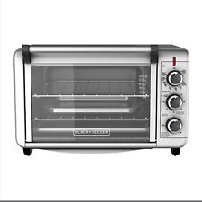 BLACK+DECKER TO3000G 6-Slice 1500W Convection Toaster Oven - Silver