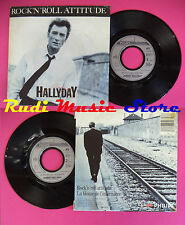LP 45 7'' JOHNNY HALLYDAY Rock n roll attitude La blouse de 1985 no cd mc dvd