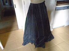 VINTAGE CIRCA 1950'S BLACK TAFFETA FORMAL / PROM SKIRT - BEAUTIFULLY MADE
