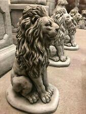 2 Sqr Plinths Patio Stone Cast Statue Pillar Caps Garden Décor Efficient Pair Of Welcome Lions Home & Garden
