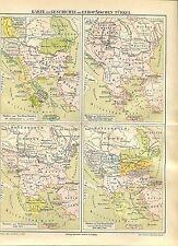 """Landkarte """"Geschichte der europäischen Türkei"""" -  Von 1895    (J-BE2)"""