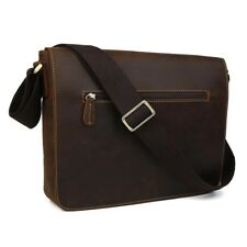 Retro Leather Men's Messenger Shoulder Bag Briefcase Schoolbag Satchel Tote
