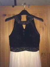 Little Mistress black and cream dress - size 10