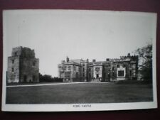POSTCARD RP NORTHUMBERLAND FORD CASTLE - RIVER TILL - LOOKING ACROSS LAWN AT CAS