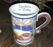"""Comical Cats Coffee Mug Gary Patterson """"Spoiled Rotten� Danbury Mint Collectible"""