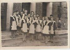 1960s Big Pretty teen school girls in uniform class old Soviet Russian photo
