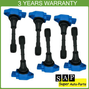 Set of 6 Ignition Coil For Infiniti FX37 G37 FX50 M37 Q70 QX70 Nissan 370Z 3.7L