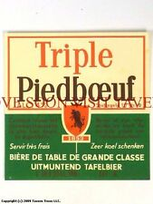 1960s Brouwerij Piedboeuf Triple V5 Label Tavern Trove