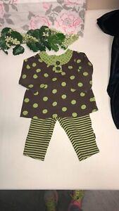 Carter's Polka Dot & Stripes Legging Set 6 Mths