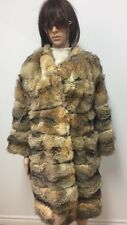 AMERICAN FOX FUR COAT HORIZONTAL Sz.M