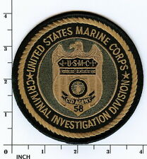USMC Criminal Investigation Division subdued OD Marine PATCH CID Military Police