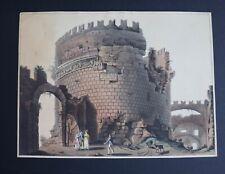 Matthew Dubourg 1820 Aquatint Tomb of Cecilia Metella From Views in Rome