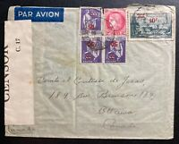 1941 France Censored Airmail Cover to Ottawa Canada